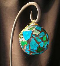 THE LIVING SEAS mosaic tile ornament, handmade, 2.5 in.