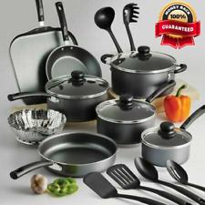 Cookware Set 18 Piece Pots Pans Non Stick Cooking Aluminum Professional Kit New