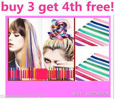 Buy 3 Get 4th FREE!  CLIP-IN HIGHLIGHT HAIR EXTENSIONS IN ANY ONE / MULTI COLORS