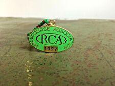 More details for vintage green metal rca racecourse association 1997 no.156 horse racing badge