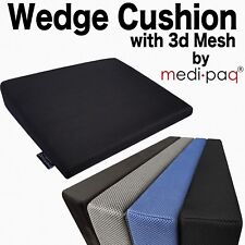Memory Foam Wedge Car Seat Chair Lumbar Support Cushion Back Pain Height Booster