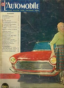 L'AUTOMOBILE 154 1959 CITROEN DS 19 PORSCHE 356 A 1600 S RALLYE MONTE CARLO