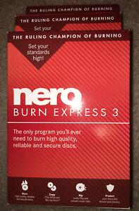 Nero Burn Express 3 Burning Rom CD DVD Blu-ray Physical Version Retail Box