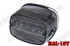 Bright Ass Lights LED Taillight for H-D - Smoked Lens Squareback w/ Tag Window