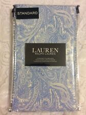 Ralph Lauren Blue and White Paisley Standard Pillowcases Set of 2 NWT