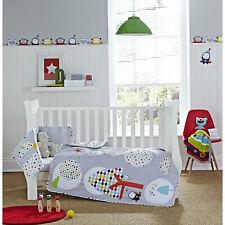 Clair De Lune Baby Cot / Cot Bed 2 Pc Quilt & Bumper Bedding Set - Grey Brights