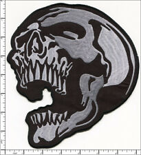 10 Pcs Big Embroidered Iron on patches Skull Head AP021aA