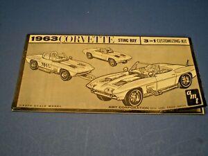 "AMT ""1963 Corvette Sting Ray "" Original model kit Instruction sheet"
