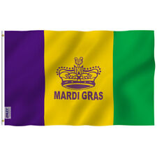 Anley Fly Breeze 3x5 Foot Mardi Gras Flag Happy Carnival Decoration Polyester