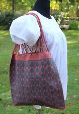 Coral & Dk Gray Hobo Bag Handwoven Backstrap Loom Larráinzar Maya Chiapas Mexico
