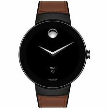 Movado 3660019 Bold Connected Series 46MM Men's Brown Leather Watch