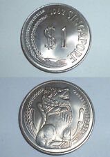 Coin - 1 pc. 1982 Singapore Lion statue 1 $ one dollar Copper Nickel big coin