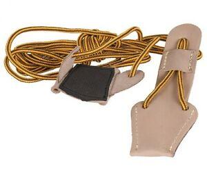 Buck Trail Leder Bogenspannschnur Spannschnur Recurvebogen Langbogen universal