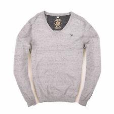 Diesel Herren V-Neck Pullover Sweater Gr.S Superior Quality Knit Grau 88501