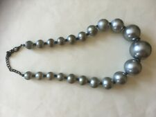 Necklace Silver Colour Beads Small To Large Length 46 cms/18""