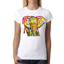 Dean Russo Elefante Cubismo Donna T-Shirt XS-3XL Nuovo