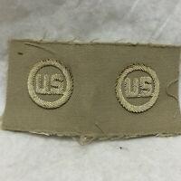 Vtg Military Patch Army Air Force Bullion Collar Insignia Khaki Variant USAAF