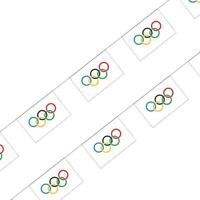 Olympic Buntings Ring Flag 10m World Sport events Celebration