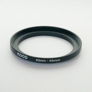 STEP UP ADAPTER 43MM-49MM STEPPING RING 43MM TO 49MM 43-49 FILTER ADAPTOR