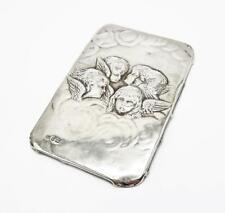 More details for edwardian sterling silver book cover panel birmingham 1904 reynolds cherubs