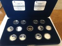 1992 Royal Canadian Mint Canada 125 13pc coin set, 12 silver quarters & 1 Loonie