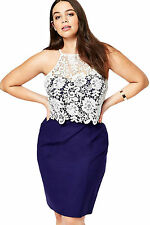 Abito gonna Top Crochet Taglie forti Grandi Curvy Formosa plus size Dress XXL