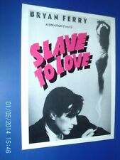 More details for bryan ferry - slave to love  - magazine poster advert 1980s original