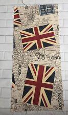 London Union Jack Carta Tessuto Remnant TIMBRO ROSSO BLU 25 x 57 cm i codici postali