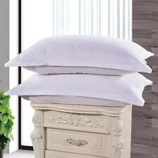 1/2Pcs Cotton Pillow Cases Covers Pillowcases Standard Queen Size Solid Colors