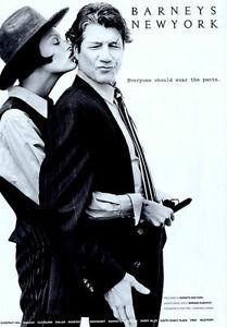 1992 Barneys New York Linda Evangelista Fred Ward fashion 1-page MAGAZINE AD