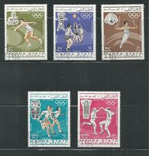 ADEN  Michel: # 25A-29A Used SUMMER OLYMPICS, MEXICO 1968