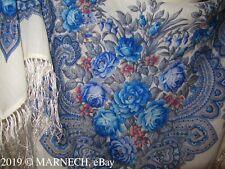 779-0 Shawl Luxury scarf 100% Merino WOOL Womens kerchief Russian Pavlovo Posad