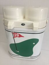 Vintage 19th Hole Golf  KRAFTWARE TWIN THERMOS PUMP, HOT COLD, Wide Open