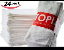 Utopia Towels Washcloths Extra Soft Ring Spun Cotton, Highly Absorbent, 24-Pack,
