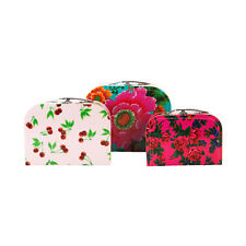 NEW Kitsch Kitchen Suitcase Set of 3 - Floral - Toy Storage Carry Case