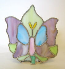 Stained Glass Butterfly Candle Holder Multicolor 4 to 5 inches