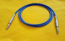 "Mogami 2549 1/4"" TRS to 1/4"" TRS 6.35mm Stereo Balanced Audio Cable Blue 3 ft"