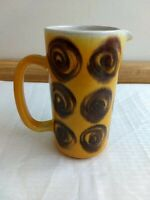 Vintage signed hand made and designed art pottery pitcher