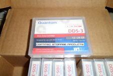New 10/PK Quantum DDS-3 12/24GB DAT24 DDS3 125m 4mm Data Tape Cartridge MR-D3MQN