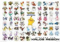 POKEMON ~ KALOS REGION ~ CHECKLIST ~ 24x36 Poster ~ Cartoon Anime