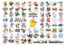 POKEMON ~ KALOS REGION ~ CHECKLIST ~ 24x36 Poster ~ Cartoon Anime