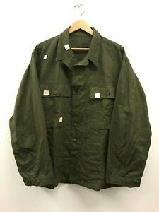 NOS US Army WWII HBT Cotton 13 Star Button Shirt 44 R