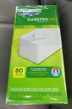 Nib Swiffer Sweeper Dry Cloth Refills Bigger 80 Count Box