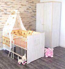 Babyzimmer Komplett Set Babybett Umbaubar 5 Farben Schrank Matratze wei�Ÿ rosa