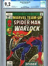 Marvel Team-Up #55 CGC 9.2 WP Spider-Man Warlock Marvel Comics 1977