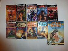 Lot of 10 Star Wars & Star Trek Science Fiction Books, Pb & Hb Sf6