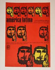 1968 Original Cuban Political Poster.Cold War vintage Graphics.Latin America art