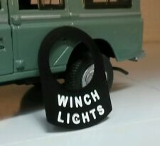 Land Rover Series 1 2 2a 2b Metal Switch Tab Badge Decal Label Winch Lights