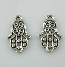 12pcs Tibetan Silver Hand palm Charms Pendants 14x22mm for Jewelry Making
