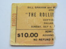 THE ROLLING STONES TICKET 6th juillet 1975, coton bowl, Dallas, U. S. A.